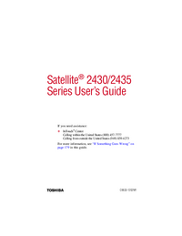 User Manual Toshiba Satellite 2435