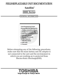 Service Manual Toshiba Satellite 3000 Series