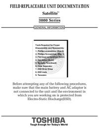 Instrukcja serwisowa Toshiba Satellite 3000 Series