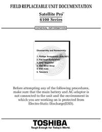 Руководство по техническому обслуживанию Toshiba Satellite Pro 6100 Series