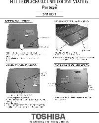 Serviceanleitung Toshiba Portege 3110CT
