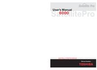 Manuel de l'utilisateur Toshiba Satellite Pro 6000