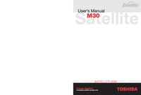 User Manual Toshiba Satellite M30 Series