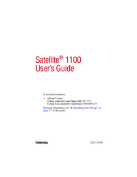 User Manual Toshiba Satellite 1100