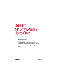 User Manual Toshiba Satellite 1415 Series