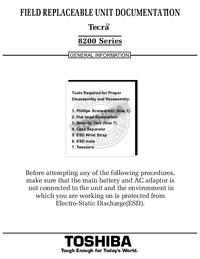 Serviceanleitung Toshiba Tecra 8200 Series
