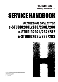 Servicehandboek Toshiba e-STUDIO203L/233/283