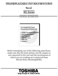 Manual de servicio Toshiba Tecra M1 Series