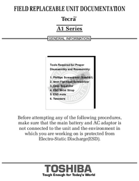Service Manual Toshiba Tecra A1 Series