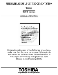 Manual de servicio Toshiba Tecra 9000 Series