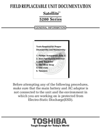 Serviceanleitung Toshiba Satellite 5200 Series