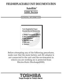 Instrukcja serwisowa Toshiba Satellite 5200 Series