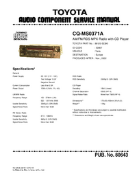 Service Manual Toyota CQ-MS0371A