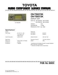 Serviceanleitung Toyota CN-TS0370K