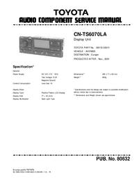 Serviceanleitung Toyota CN-TS6070LA