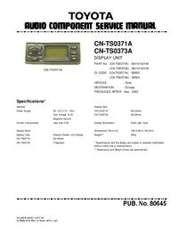 Serviceanleitung Toyota CN-TS0371A