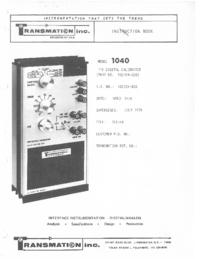 Serviço e Manual do Usuário Transmation 1040