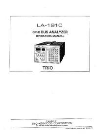 Manuale d'uso Trio LA-1910