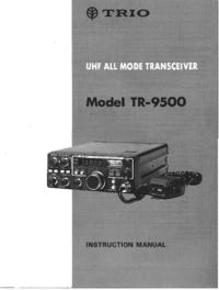 Обслуживание и Руководство пользователя Trio TR-9500