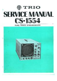Manual de serviço Trio CS-1554