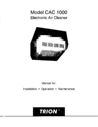 Service and User Manual Trion CAC 1000