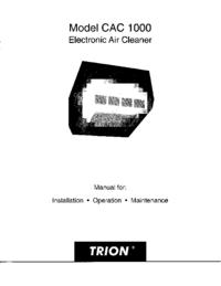 Serviço e Manual do Usuário Trion CAC 1000