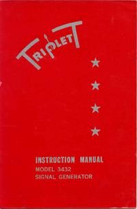 User Manual with schematics Triplett 3432
