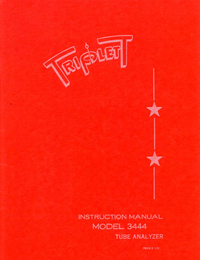Serwis i User Manual Triplett 3444