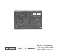 Manuale d'uso Uher Mix 700 stereo