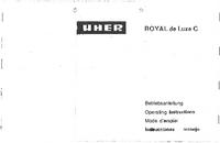 Instrukcja obsługi Uher Royal de Luxe C