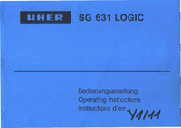 User Manual Uher SG 631 Logic