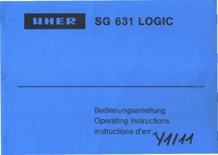 User Manual Uher SG 631 Logic