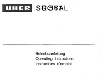 User Manual Uher SG 561 Royal