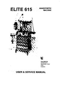 Service and User Manual Ulco ELITE 615