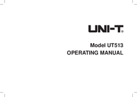 Manuale d'uso UniT UT513