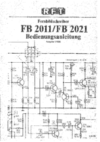 User Manual VEBStudiotechnikBerlin FB 2021