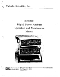 Manuale d'uso Valhalla 2100