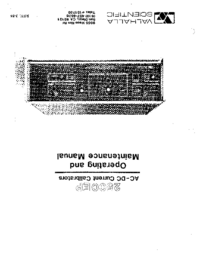 Service-en gebruikershandleiding Valhalla 2500EP