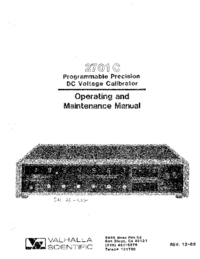 Service-en gebruikershandleiding Valhalla 2701 C