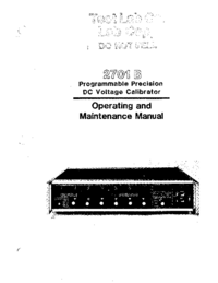 Service and User Manual Valhalla 2701 B