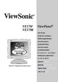 Manual do Usuário Viewsonic VE170