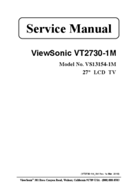 Manual de servicio Viewsonic VS13154-1M