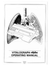 Manuale d'uso Vitalograph alpha
