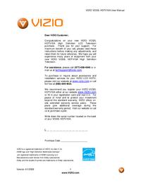 Manuale d'uso Vizio VO32L HDTV10A
