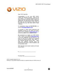 User Manual Vizio GV47L