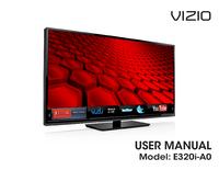 Manual do Usuário Vizio E320i-A0