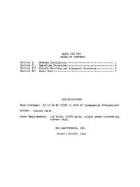 Serviço e Manual do Usuário WRL 666