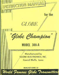 Servicio y Manual del usuario WRL Globe Champion 300-A