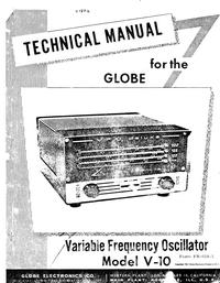 Service- und Bedienungsanleitung WRL Globe V-10