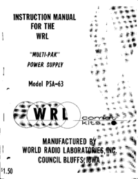 Service and User Manual WRL PSA-63